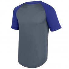 90e6d736179 Augusta Youth Wicking Short Sleeve Baseball Jersey Style 1509