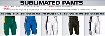 Elite Football Sublimated Pants