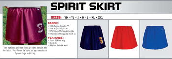 Elite Womens Sports Spirit Skirt